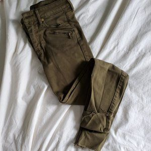 Abercrombie Army Green Super Skinny Jeans, 25